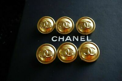 100% Chanel buttons lot 6 gold  cc logo 20 mm 0,8 inch 💔💔💔