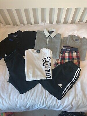 boys clothes 11-12 years bundle Ralph Lauren Boss Tommy Hilfiger Adidas 6 Pieces