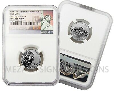 Live 2020 First W Mint Reverse Proof Nickel Ngc Pf69 First Day Of Release