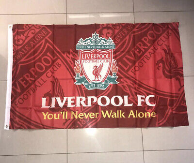 Liverpool FC Official You'll Never Walk Alone X-Large Flag Football 5ft X 3ft