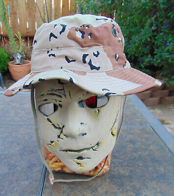 6 Color Desert Storm Chocolate Chip Camo U.S.A. Boonie hat, 7 1/2, new,free ship