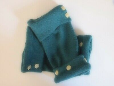 Fingerless Gloves Teal Green Women's 90% Merino Wool One Size Fits Most S M L /