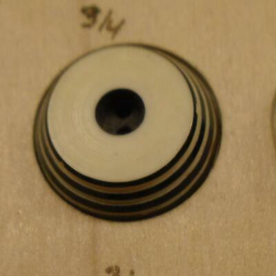 """WOW 3/4"""" Black and Cream  Celluloid Antique Button 37:29"""