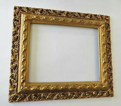 Vintage Gold Ornate Picture Frame 12 x 9.5 inch