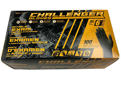 XL Nitrile exam and multi-purpose gloves 6 MIL by Challenger Gloves