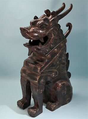 19th Century Chinese Cold Painted Bronze Censer Sculpture of Earth Spirit