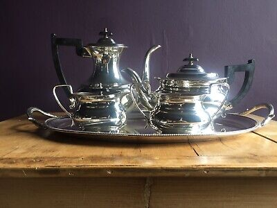 Vintage Silver Plated Tea & Coffee set with tray, Viners of Sheffield