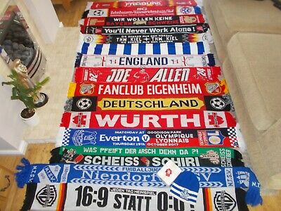 Job Lot Bundle 15 Football Sports Miscellaneous Scarves Scarf Collection
