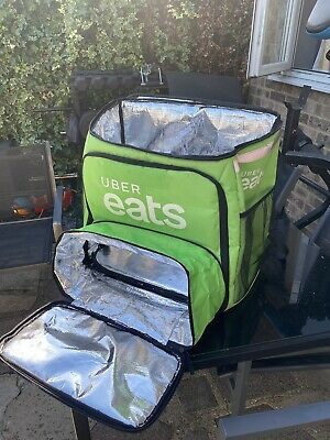 Uber Eats Thermo food Bag With Extendable Pizza Box Slot.