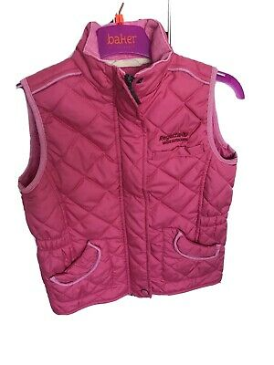 Girls Pink Regetta Gilet Body Warmer Age 7-8