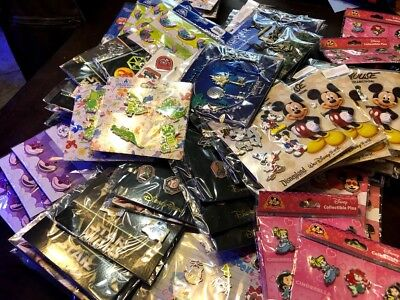 Disney TRADING PINS! 24 Pin Lot -100% Authentic - Brand New Booster Sets