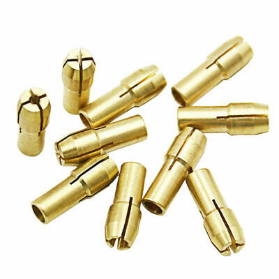 10Pc Brass Collet Bit Drill Chuck Keyless Kit 0.5-3.2mm Dremel Rotary Tool 4.8mm