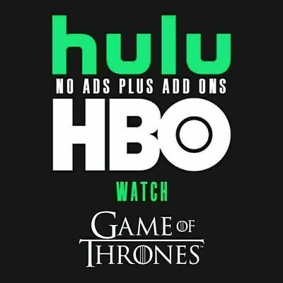 Hulu Premium + No Ads + HBO | 2 Years Warranty | 10 Sec Delivery