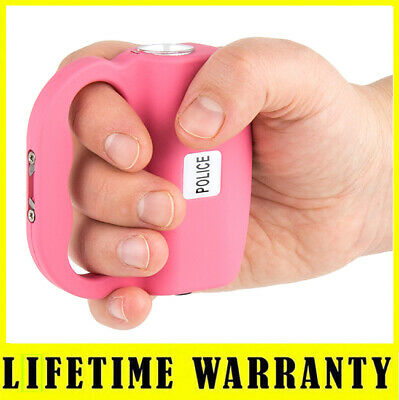 STUN GUN POLICE 519 Pink Max Voltage Rechargeable With LED Flashlight