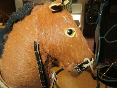 Primative Antique Handmade Real Horse Hair Saddle Bridle Horse