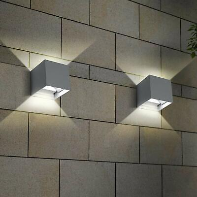 2 Piezas Applique Cubo LED 6W Pared Pared Jardín IP55 2 Arneses Luz Ajustable