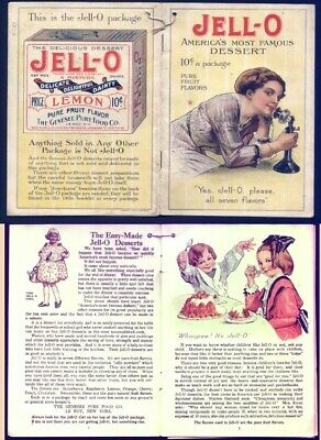 1912 era ROSE O'NEILL JELLO Advertising Booklet-w/ICE CREAM POWDER-Nice Illustra