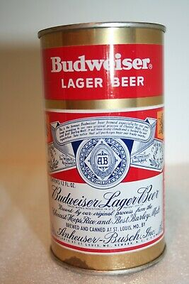 Budweiser Lager Beer 12 oz. flat top beer can from St. Louis, Missouri