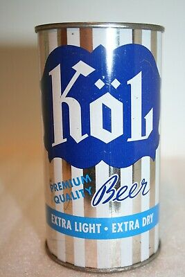 Kol Premium Quality Beer 12 oz. flat top beer can from Chicago, Illinois