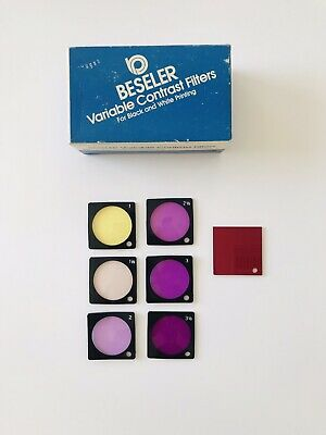 Beseler Variable Contrast Filter Polycontrast Set Of 7 With Box
