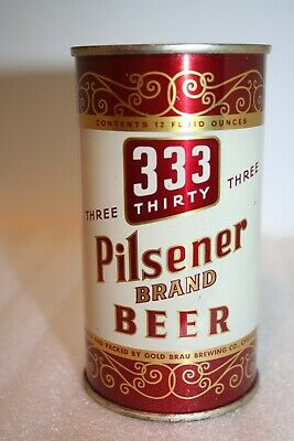 333 Pilsener Brand Beer 12 oz. flat top beer can from Chicago, Illinois