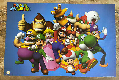 Official Nintendo Super Mario 36x24 Large High Quality Printed Paper Poster Kart
