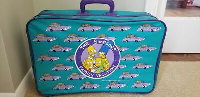 """THE SIMPSONS FAMILY VACATION suitcase rare vintage-clean 19"""" x 12"""" VG D'oh!"""