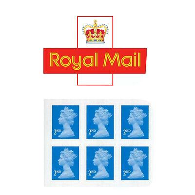 6 X Second Class Royal Mail Stamps ✔️Genuine ✔️ Self Adhesive ✔️Brand New ✔️UK