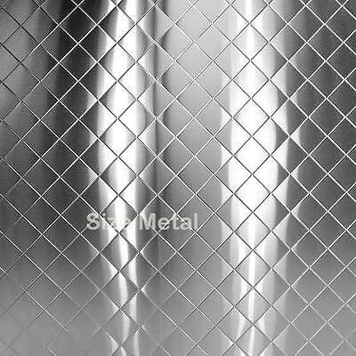 """Chrome Quilted Stainless Steel Wall Panel, 24Ga 48""""x96"""" + Trim"""