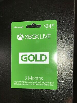 Microsoft Xbox Live 3 Month Membership for Xbox 360 / Xbox One Physical Card
