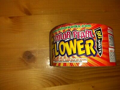 Firework labels collectible 96 shot color of pearl