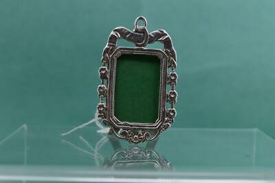 Victorian Miniature Dolls House sterling silver Photograph Frame Flowers