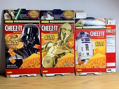 2004 Star Wars Episode III Limited Edition 3 Character Cheese It Boxes