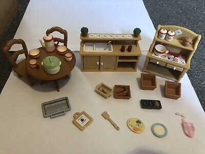 Sylvanian Families - Kitchen Furniture, Cutlery Accessories Bundle