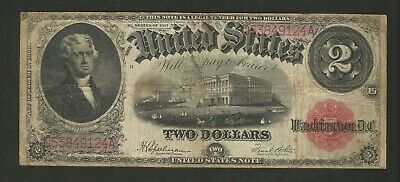 FR. 60 Two Dollars ($2) Series of 1917 United States Note - Legal Tender