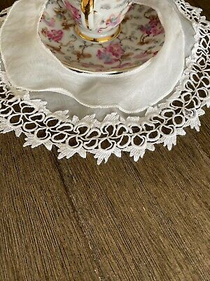 Antique Victorian Cotton And Lace Childs Collar 🌹