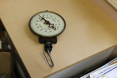 Nice Antique Hanging Spring Scale-Pelouze Dairy. 60 lbs.