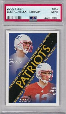 Tom Brady 2000 Fleer Rookie # 352 Psa 9 Mint New England Patriots Rc