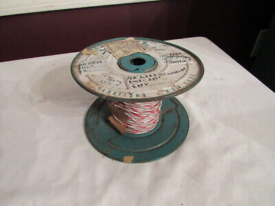 Vintage Tensolite Electrical Wire Spool Awg #22 Gauge Amp Telephone Swithchboard