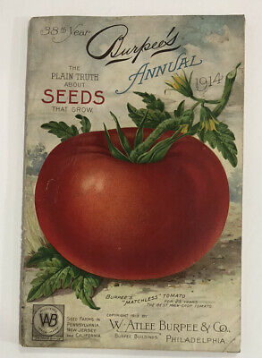 Vtg 1914 Burpee Seed Co Annual Catalogue Advertising Flower Vegetable Corn Book