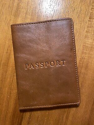J.Crew Tan Leather Passport Case Holder Cover