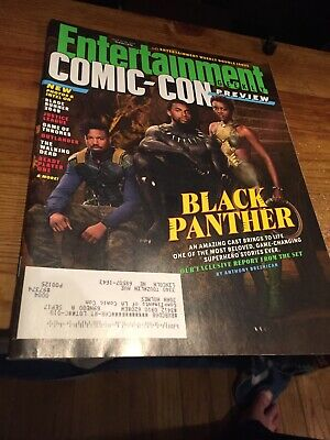 July 2017 Entertainment Weekly Magazine The Black Panther Cover