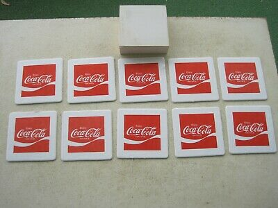 Lot of 10 Vintage Enjoy Coca Cola Coasters, Coke, Never Been Used, Original Box