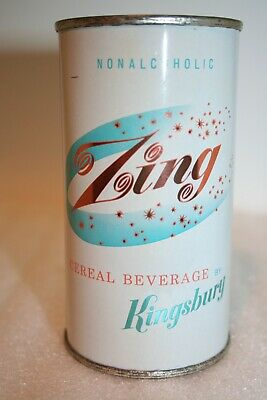 Zing Nonalcoholic Beverage 12 oz. flat top can from Sheboygan, Wisconsin