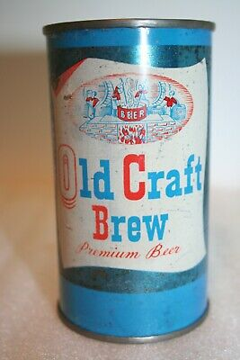 Old Craft Brew Beer 12 oz. flat top can from Oconto, Wisconsin