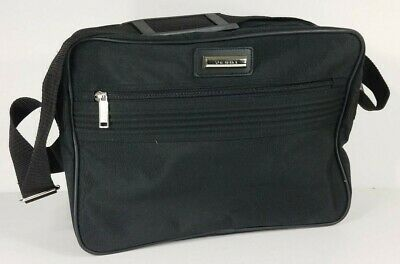 "Verdi Black 15"" Tote Carry-On Luggage Shoulder Bag Weekend Travel Overnight Bag"