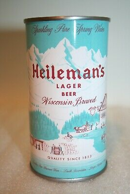 Heileman's Lager Beer 12 oz. flat top beer can from LaCrosse, Wisconsin