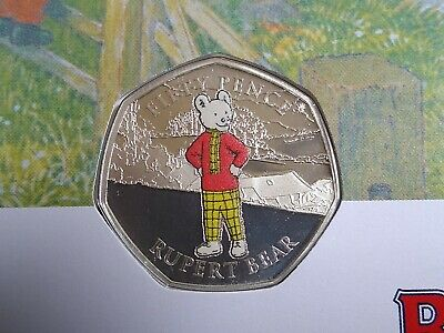 2020 Rupert Bear Silver Proof 50p Cover. Limited Edition of 250 Worldwide !!