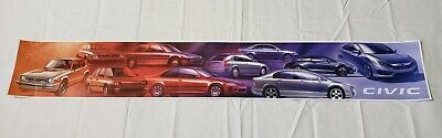 "Honda Civic Generations Promo Poster 37""× 5"" USA"