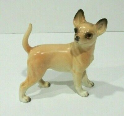 Vintage CHIHUAHUA Dog Figurine Japan VGC